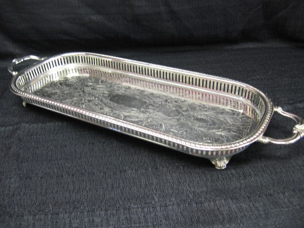 Where to find TRAY SILVER GALLERY 9X25 in Merrillville