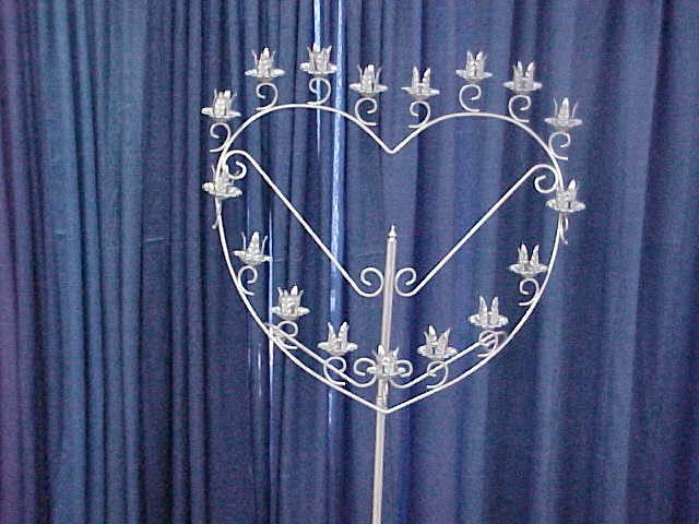 Where to find CANDELABRA SILVER 17BR HEART in Merrillville