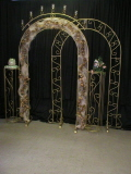 Where to rent HALO W VOTIVE CUPS BRASS ARCH in Merrillville IN