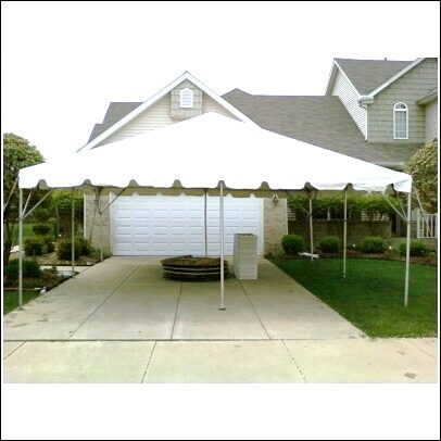 Where to find TENT FRAME 20X20 WHITE in Merrillville