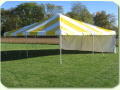 Where to rent TENT FRAME 20X20 YELO WHIT in Merrillville IN