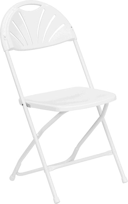 Where to find CHAIR FLDG WHITE  FAN BACK in Merrillville