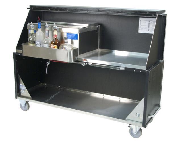 Bar Wheeled Black Stainless Steel Rentals Merrillville In